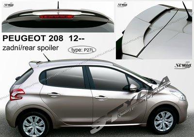 Achterklep spoiler dak spoiler Peugeot 208 Stylla