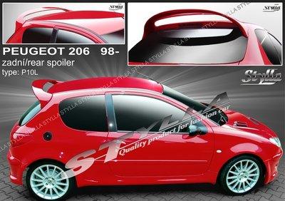 Achterklep spoiler Peugeot 206 Sport
